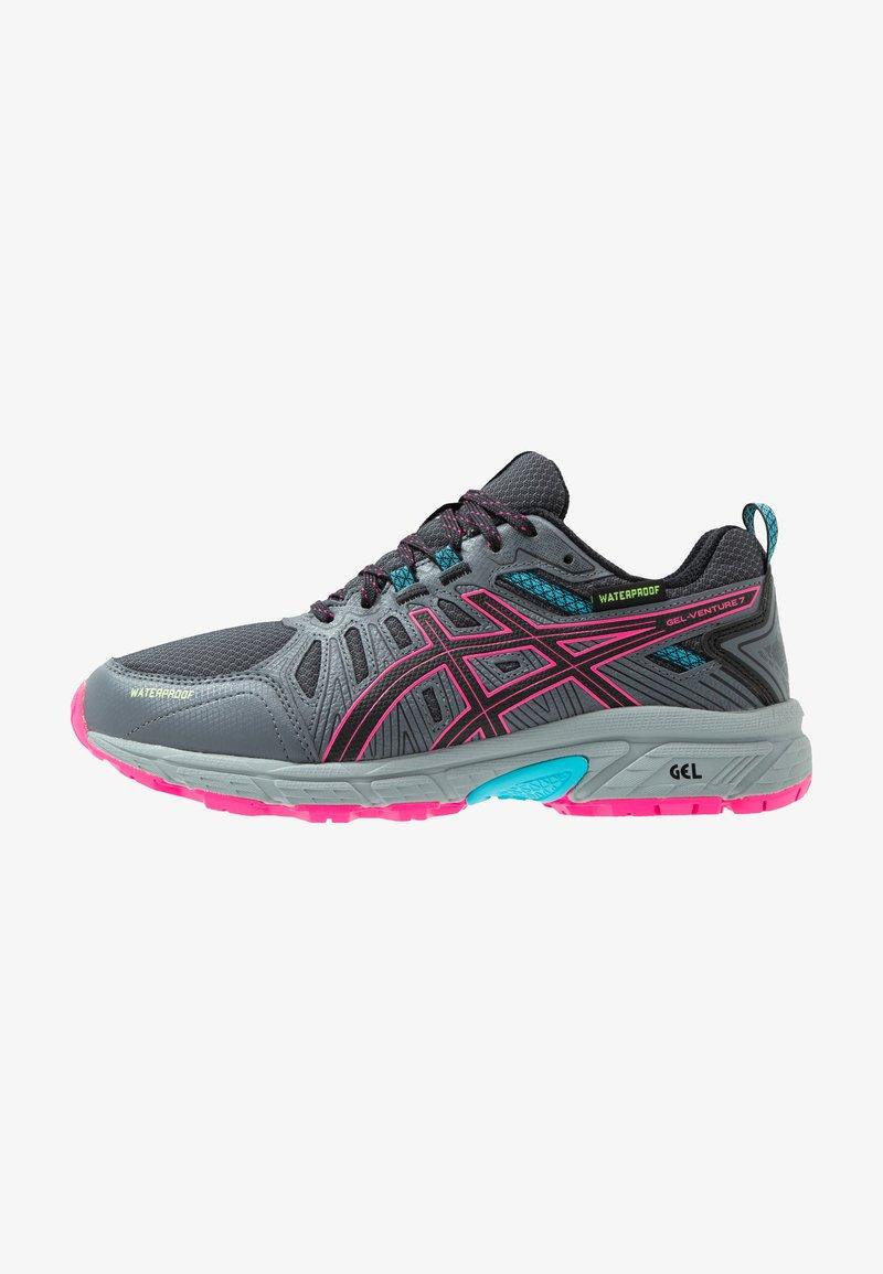 ASICS - GEL-VENTURE 7 WP - Trail running shoes - black/pink