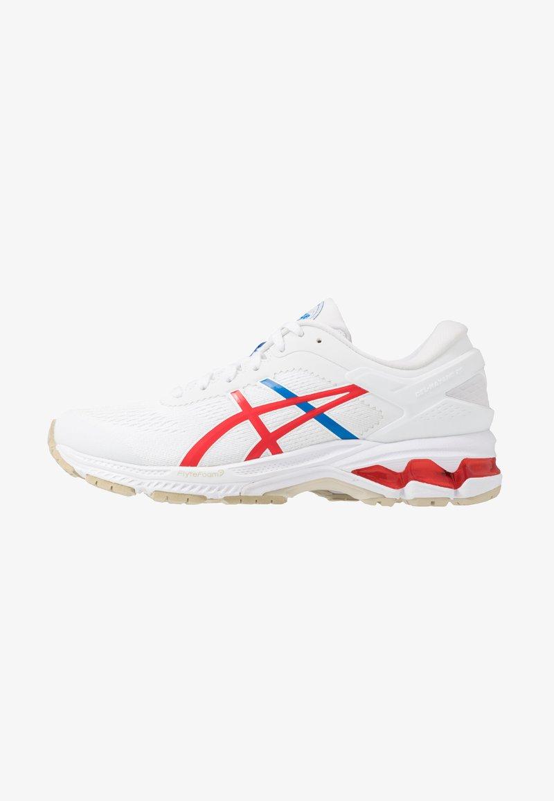 ASICS - GEL-KAYANO 26 - RETRO TOKYO - Zapatillas de running estables - white/classic red