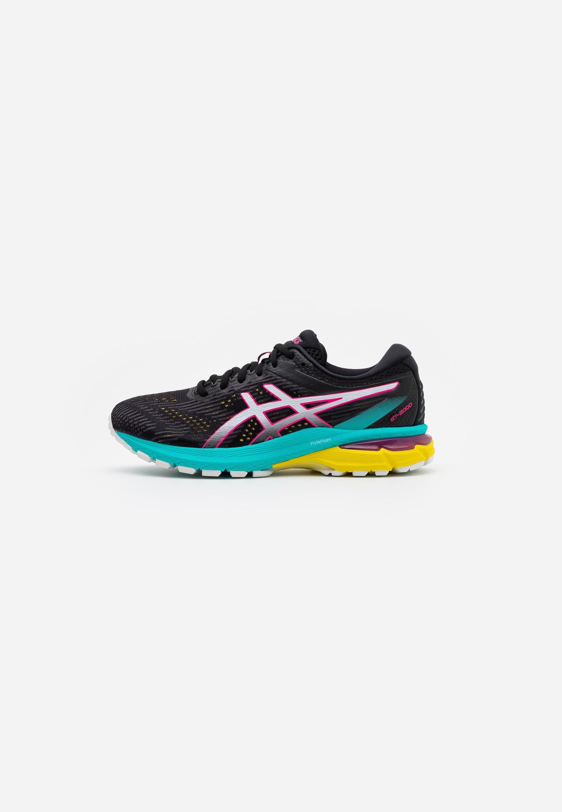 ASICS GT-2000 8 - Stabilty running shoes - black/white ...