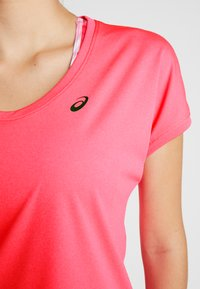 ASICS - CAPSLEEVE - Camiseta estampada - laser pink heather - 4
