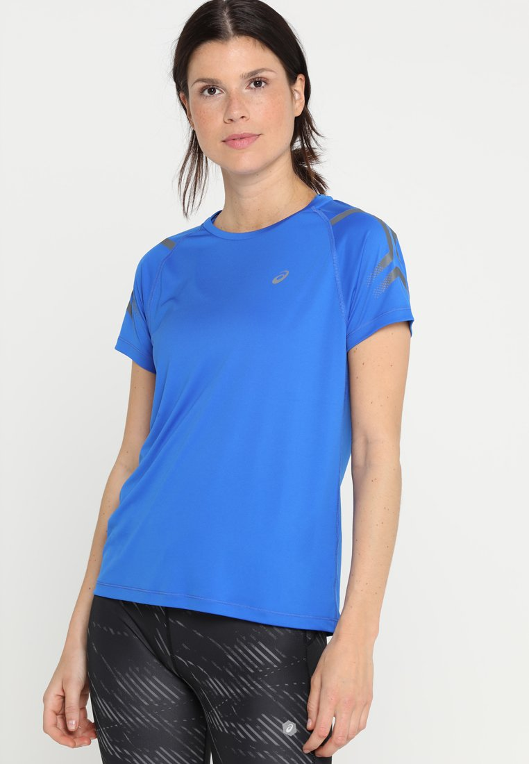 ASICS - ICON - Camiseta estampada - illusion blue/dark grey