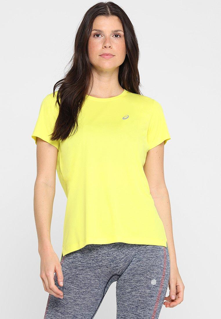 ASICS - SILVER - T-Shirt print - lemon spark