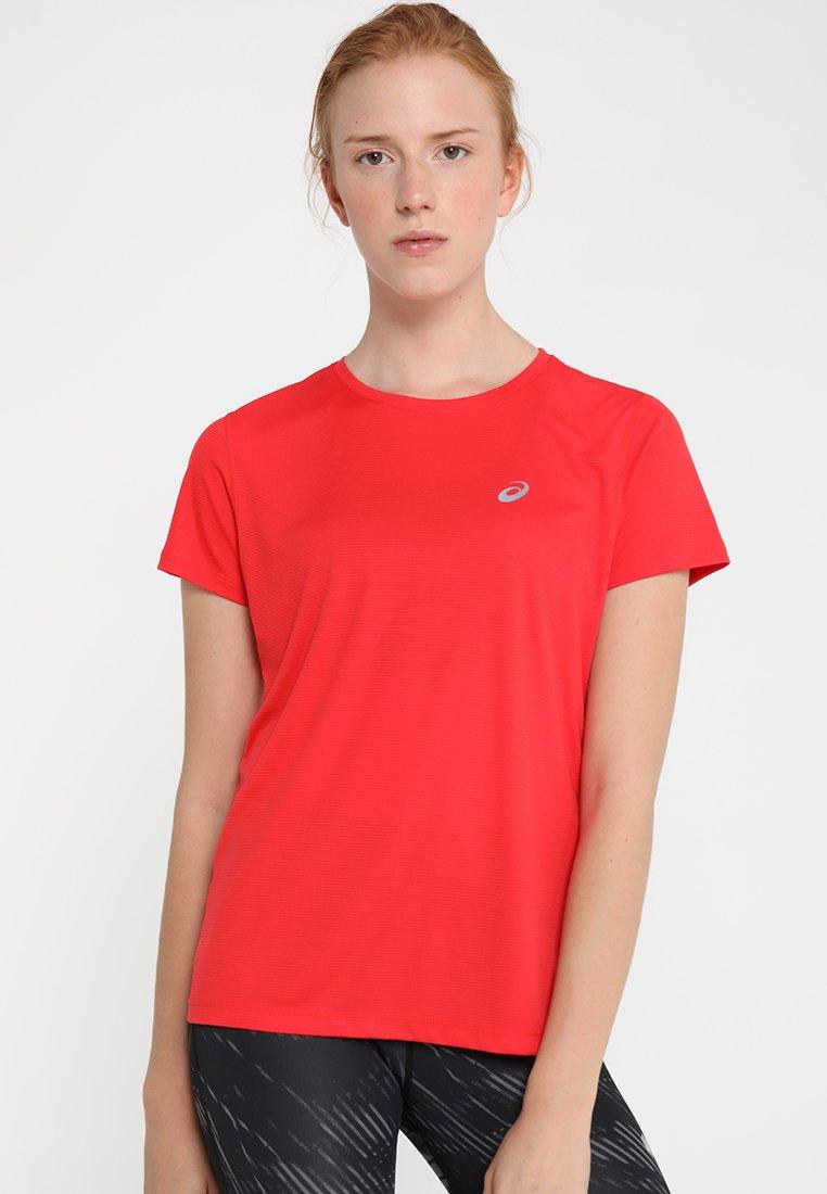 ASICS - SILVER - T-Shirt print - red alert