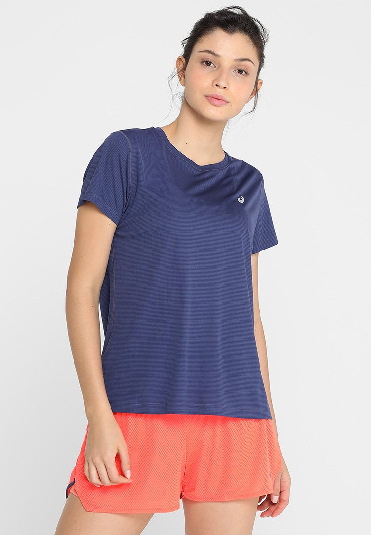 ASICS - SILVER - T-Shirt print - indigo blue
