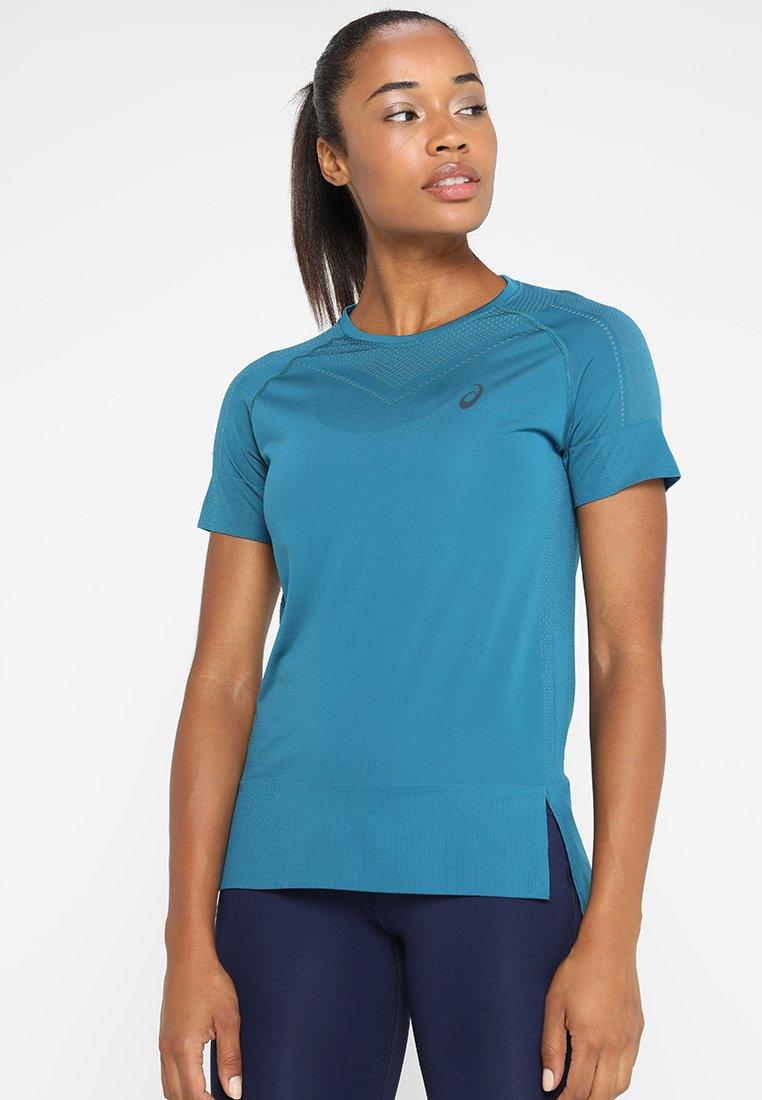 ASICS - SEAMLESS  - T-Shirt print - deep aqua