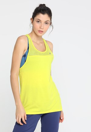 LOOSE STRAPPY TANK - Sports shirt - lemon spark