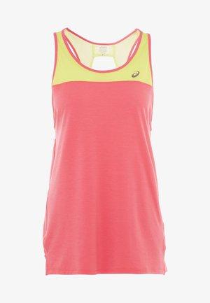 LOOSE STRAPPY TANK - Sports shirt - laser pink/sour yuzu