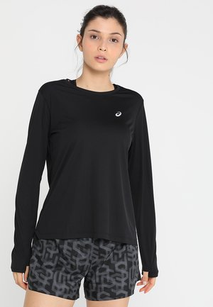 SILVER - Long sleeved top - performance black