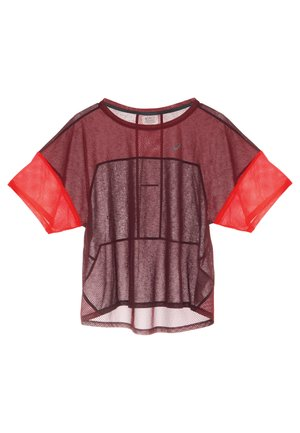 STYLE  - Print T-shirt - deep mars/chili flake