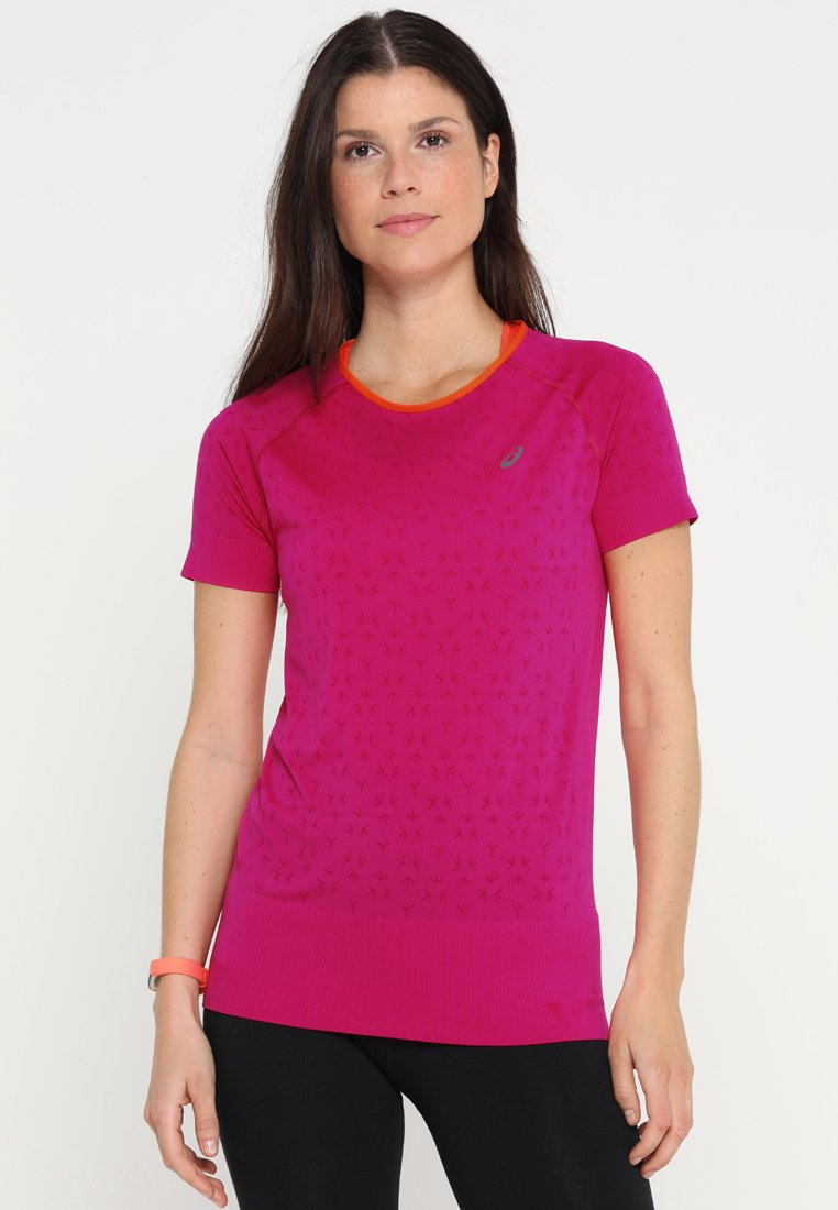 ASICS - SEAMLESS TEXTURE - T-shirt con stampa - pink rave
