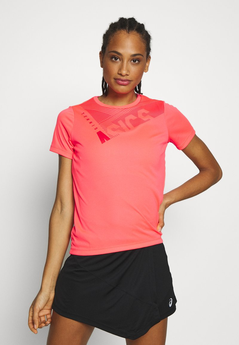 ASICS - PRACTICE GPX TEE - T-shirt z nadrukiem - diva pink