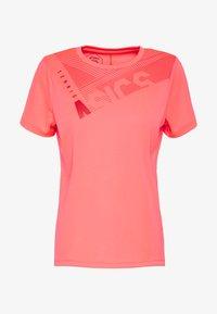 ASICS - PRACTICE GPX TEE - T-shirt z nadrukiem - diva pink - 4