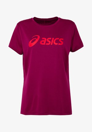 SILVER ASICS  - T-shirts print - dried berry/classic red