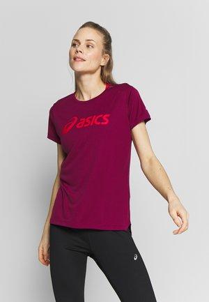 SILVER ASICS  - T-shirt z nadrukiem - dried berry/classic red