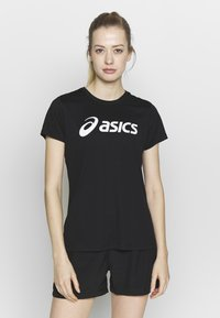 ASICS - SILVER ASICS  - Camiseta estampada - performance black / brilliant white - 0