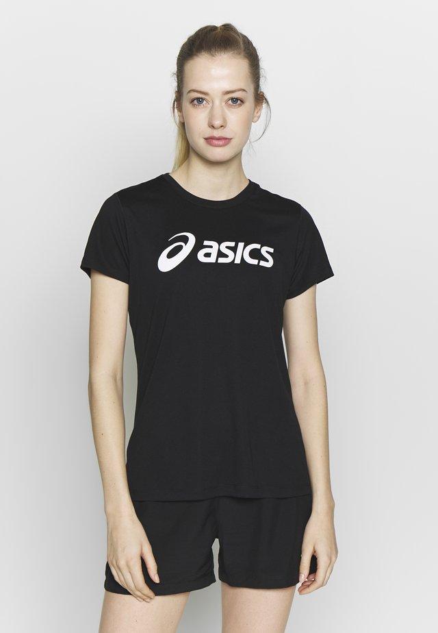 SILVER ASICS  - T-Shirt print - performance black / brilliant white