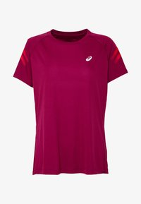 ASICS - ICON - Print T-shirt - dried berry/classic red - 3
