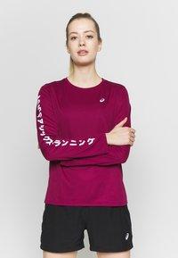 ASICS - KATAKANA - Sports shirt - dried berry - 0