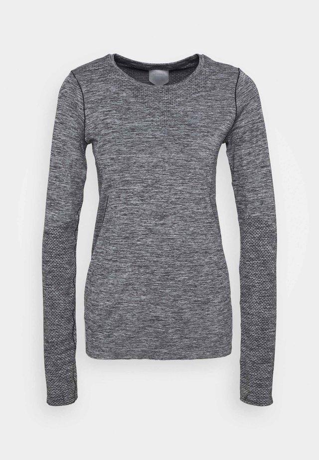 RACE SEAMLESS - Sportshirt - dark grey melange