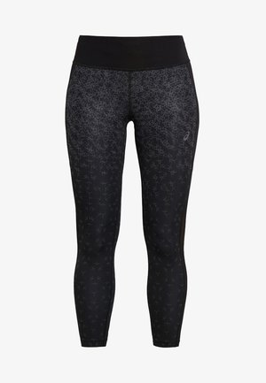 CROP PRINT - 3/4 sportbroek - black
