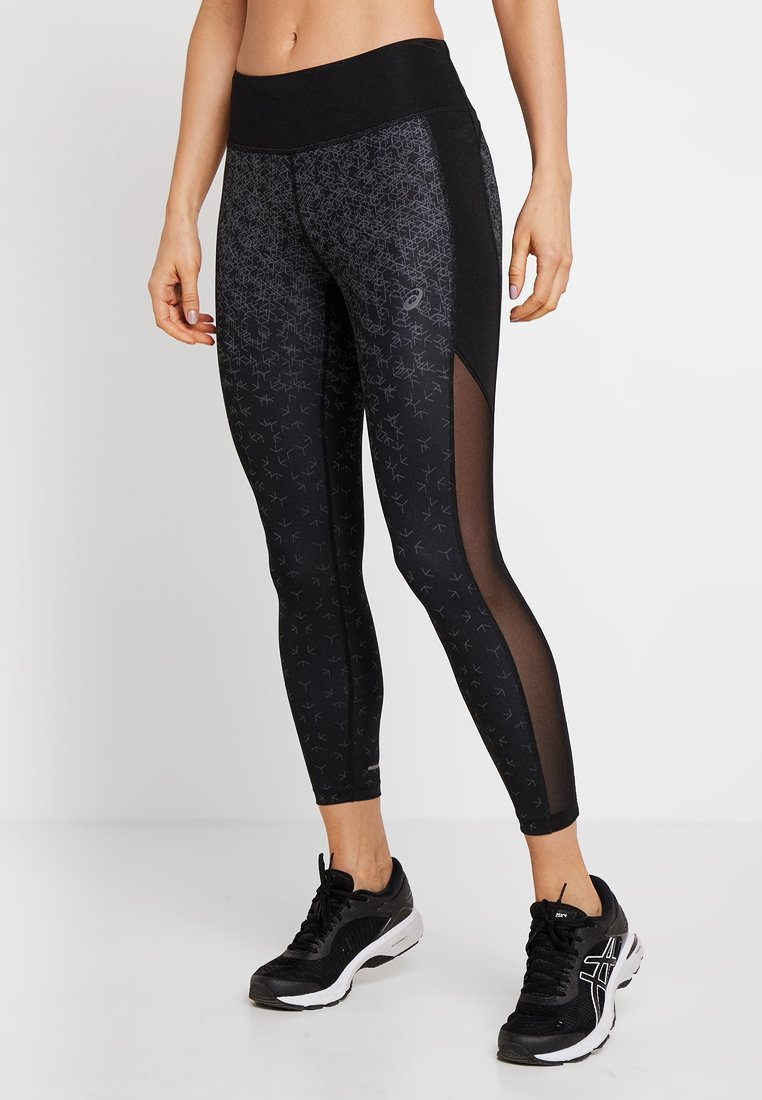 ASICS - CROP PRINT - Pantaloncini 3/4 - black