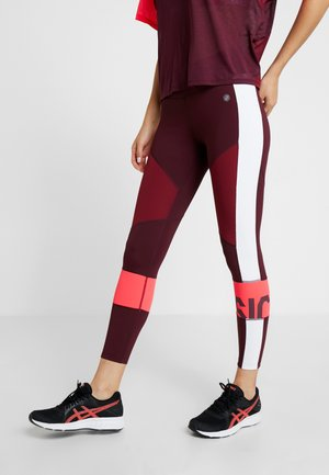 COLOR BLOCK CROPPED - Collants - deep mars