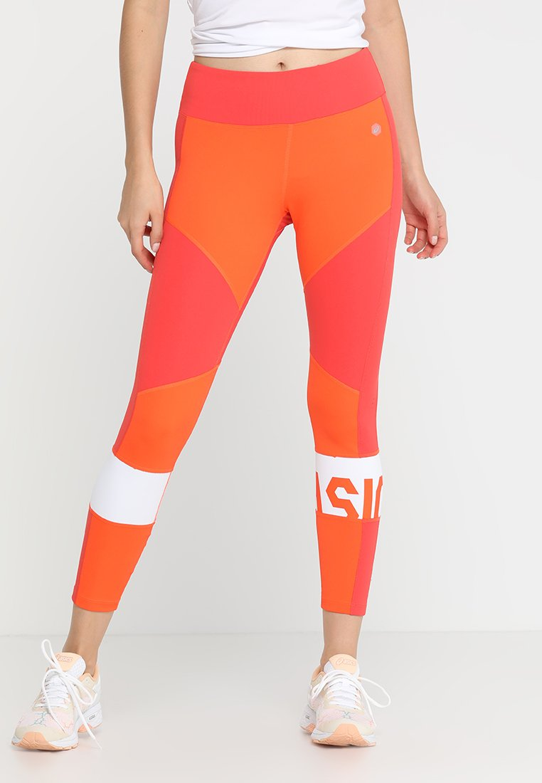 ASICS - COLOR BLOCK CROPPED - Leggings - nova orange