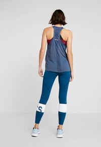 ASICS - COLOR BLOCK CROPPED - Leggings - mako blue - 2