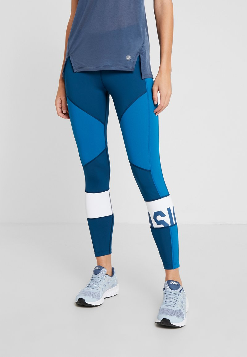 ASICS - COLOR BLOCK CROPPED - Tights - mako blue