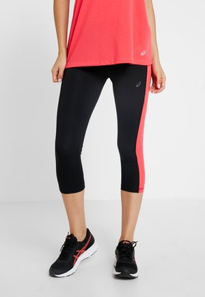 CAPRI - 3/4 sports trousers - performance black/laser pink