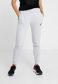 ASICS - BIG LOGO PANT - Pantaloni sportivi - mid grey heather/dark grey - 0