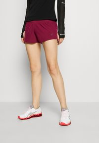 ASICS - ROAD SHORT - Sports shorts - dried berry - 0