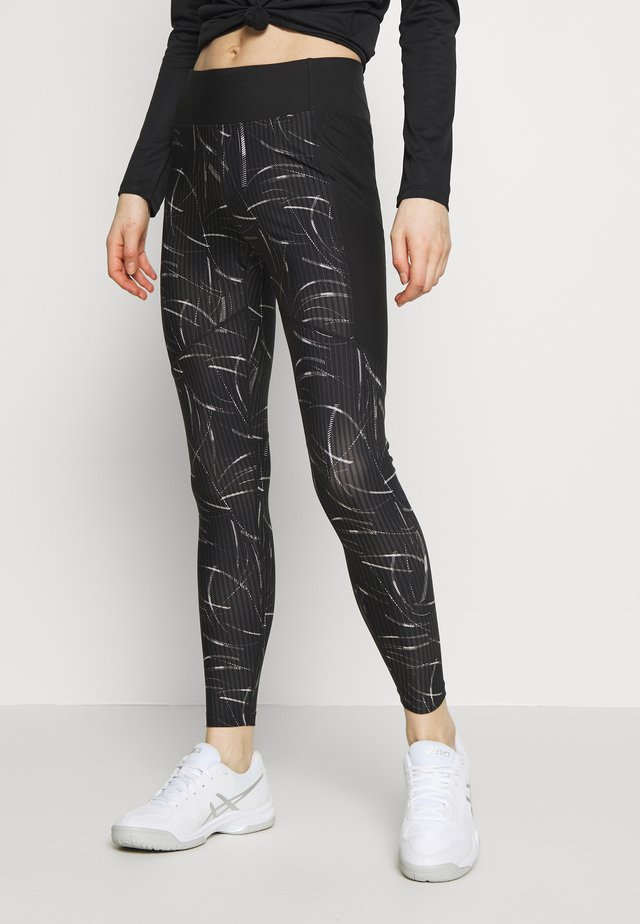 CORE TRAIN PRINT - Medias - performance black