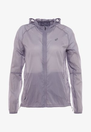PACKABLE JACKET - Běžecká bunda - lavender/grey