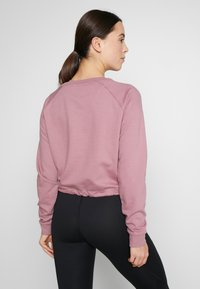 ASICS - BIG CROPPED CREW - Sweatshirt - purple oxide/brilliant white - 2