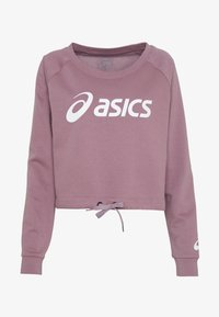 ASICS - BIG CROPPED CREW - Sweatshirt - purple oxide/brilliant white - 4