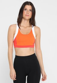ASICS - COLOR BLOCK BRA - Sports bra - nova orange - 0