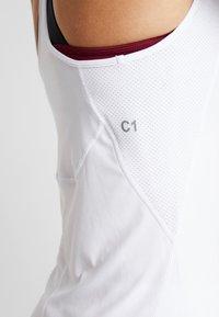 ASICS - CLUB DRESS - Sportovní šaty - brilliant white - 6
