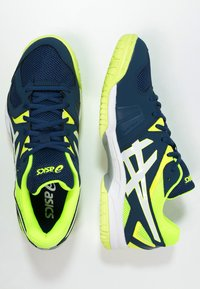ASICS - GEL-HUNTER 3 - Volleyball shoes - poseidon/white/safety yellow - 1