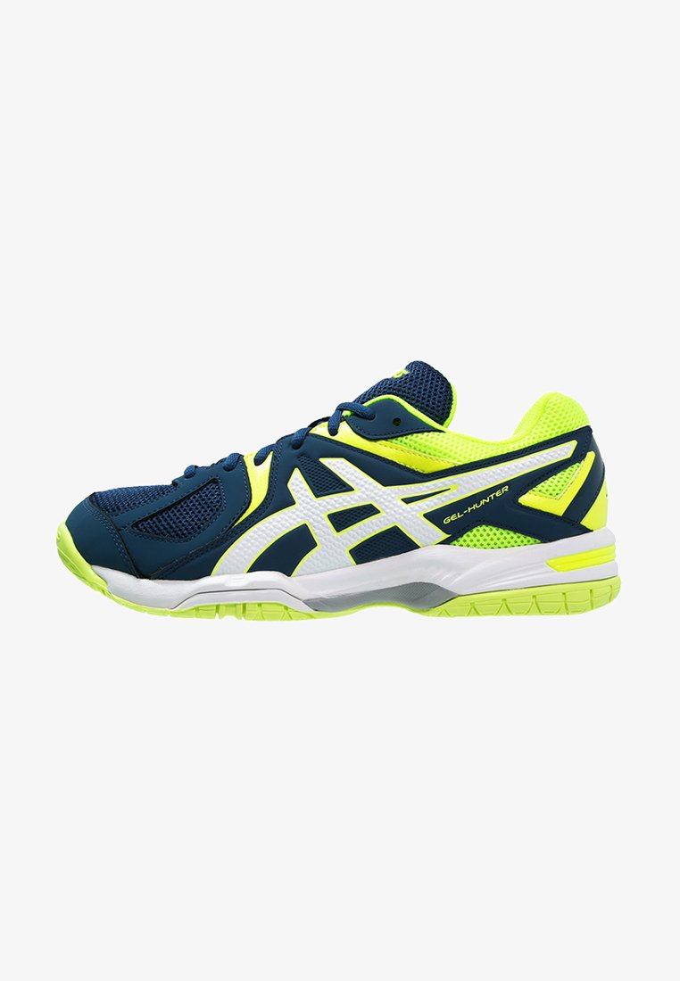 ASICS - GEL-HUNTER 3 - Volleyball shoes - poseidon/white/safety yellow