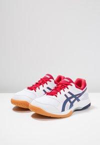 ASICS - GEL-ROCKET  - Volleyball shoes - white/deep ocean - 2