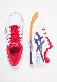 ASICS - GEL-ROCKET  - Volleyball shoes - white/deep ocean - 1