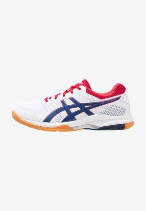 GEL-ROCKET  - Volleyball shoes - white/deep ocean