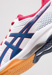 ASICS - GEL-ROCKET  - Volleyball shoes - white/deep ocean - 5