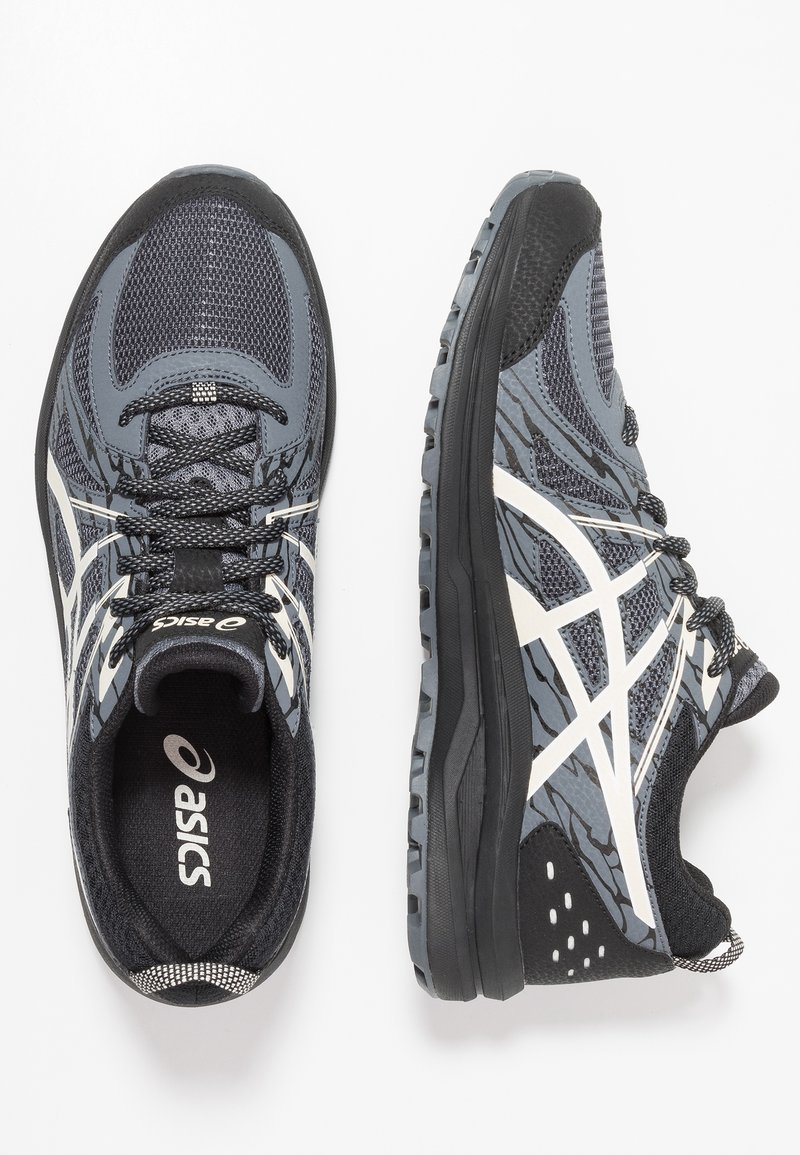 ASICS - FREQUENT TRAIL - Trail running shoes - black/birch