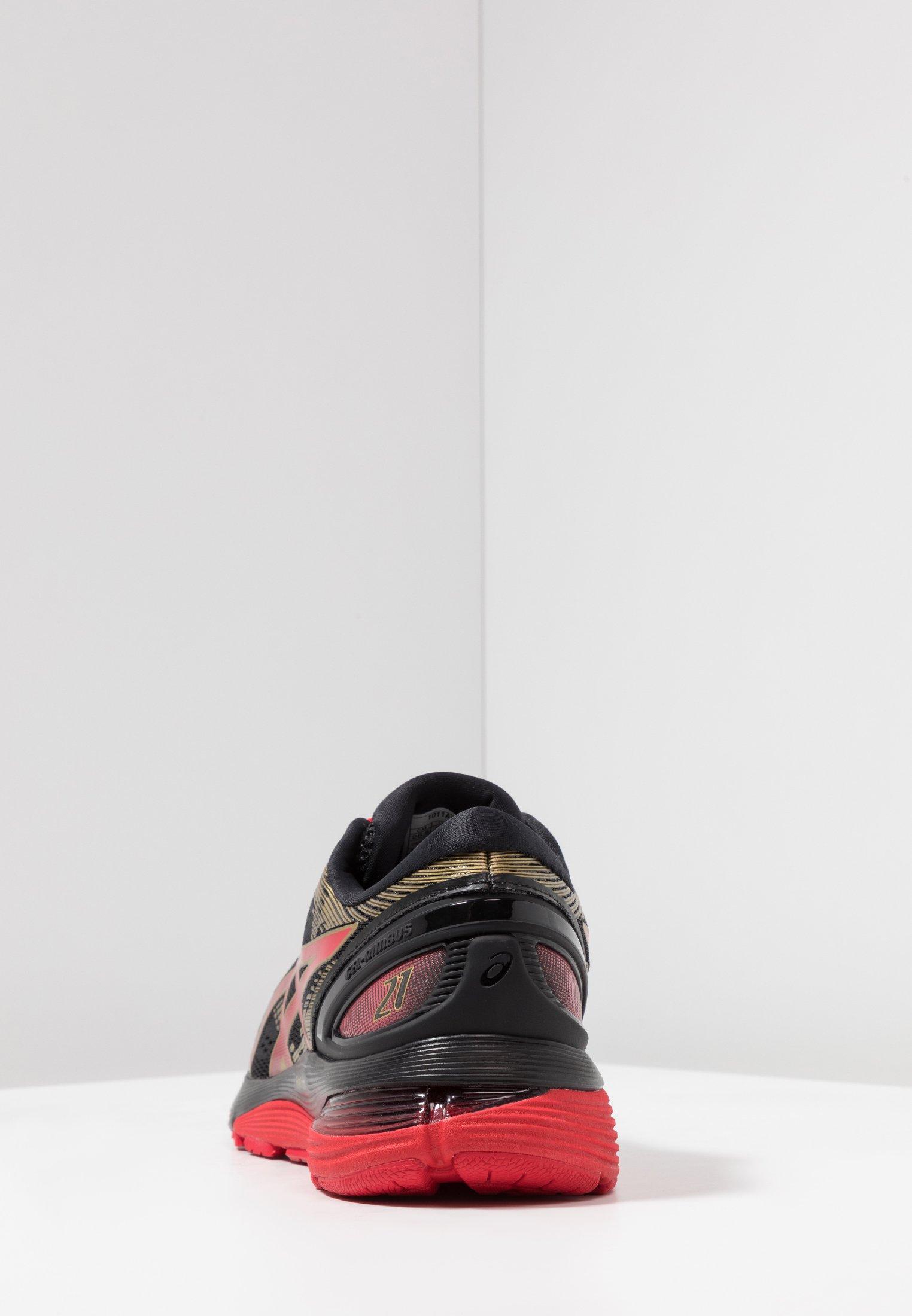 GEL-NIMBUS 21 - Hardloopschoenen neutraal - black/classic red