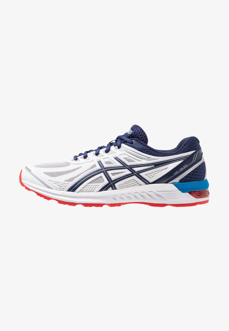 ASICS - GEL-SILEO - Scarpe running neutre - real white/deep ocean