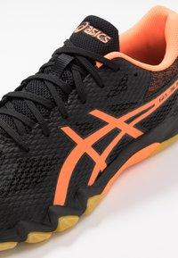 ASICS - GEL-BLADE 7 - Multicourt tennis shoes - black/shocking orange - 5
