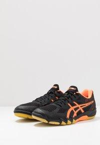 ASICS - GEL-BLADE 7 - Multicourt tennis shoes - black/shocking orange - 2