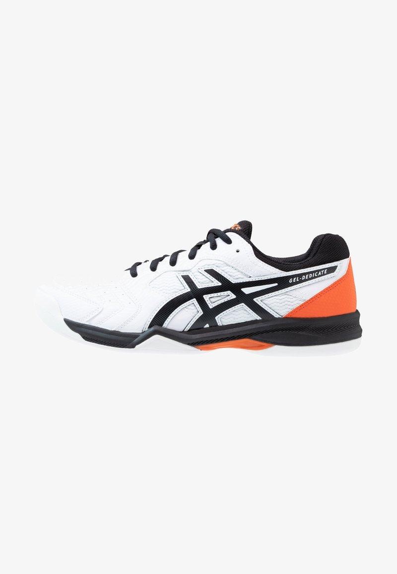 ASICS - GEL-DEDICATE 6 INDOOR - Carpet court tennis shoes - white/black